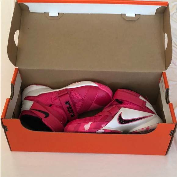 Nike Other - Nike Pink LEBRON SOLDIER IX Basketball Shoes 12C